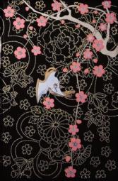 Декор Kerama Marazzi Ветка Сакуры декоры Цветы и птицы A1730\8141 20х30