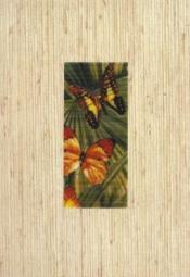 Декор Керамин Тропикана 4Б Тропические бабочки Бежевый 40x27,5