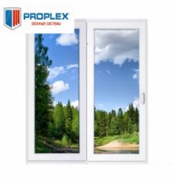 Окно раздвижное PROPLEX 2100x2000 двухстворчатое ПР1000/ЛГ1000 3 стеклопакет