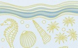 Декор Сокол Лазурный берег P753LB орнамент глянцевый 33х20