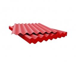 Шифер кровельный 8-волновой 1750х1130х5.2мм, красный