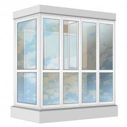 Остекление балкона ПВХ Rehau в пол с отделкой ПВХ-панелями с утеплением 2.4 м Г-образное