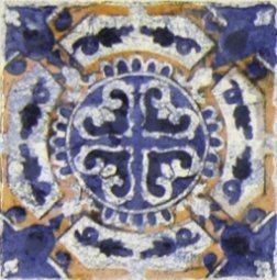 Вставка Сокол Майолика D707-3 орнамент матовая 8х8