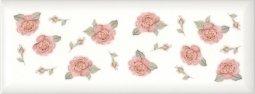 Плитка для стен Kerama Marazzi Веджвуд Цветы 15035 15х40 белый грань
