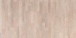 Паркетная доска Polarwood Classic Дуб Тундра белая матовая 3-х полосная