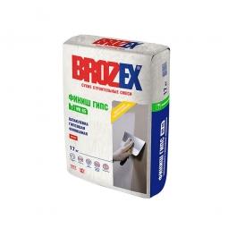 Шпатлевка Brozex Финиш Гипс WR-65 гипсовая финишная 17 кг