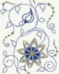 Декор Cersanit Gzhel GZ2B052 Синий 20X25