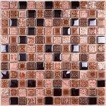 Мозаика Bonаparte Sudan коричневая глянцевая 30x30